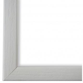 Bilderrahmen Weiss Retro Holz Pinerolo 2, 3 - DIN A2 - DIN A3 - DIN A4 - DIN A5