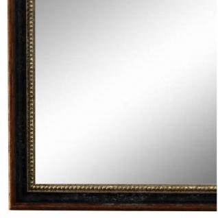 Wandspiegel Spiegel Schwarz Braun Silber Barock Empoli 1, 5 - NEU alle Größen