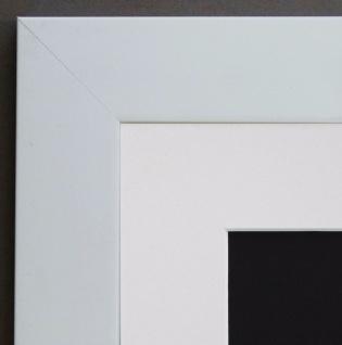 Bilderrahmen Florenz in Weiss Modern mit Passepartout in Weiss 4, 0 - alle Größen