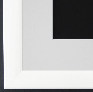Bilderrahmen Hannover in Weiss Lack mit Passepartout in Weiss 2, 4 Top Qualität