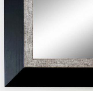 Garderobenspiegel Schwarz Silber Lüneburg Modern Shabby 4, 6 - alle Größen