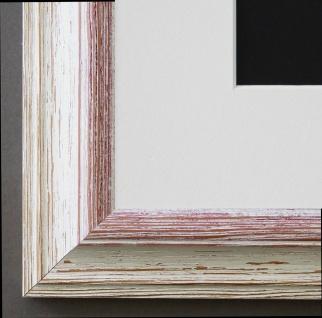 Bilderrahmen Bari in Beige Rot mit Passepartout in Weiss 4, 2 Top Qualität