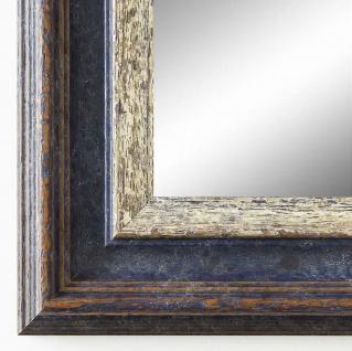 Spiegel Wandspiegel Badspiegel Flur Antik Barock Shabby Trento Blau Silber 5, 4