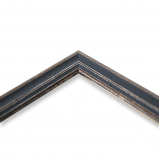 Bilderrahmen Grau Antik Shabby Holz Cosenza 2, 0 - NEU alle Größen - Vorschau 4