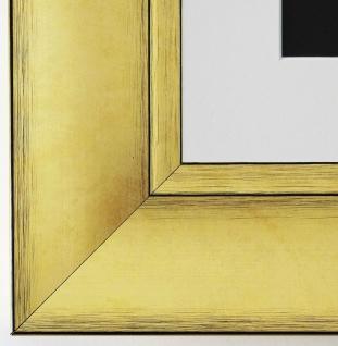 Bilderrahmen Bochum in Gold rmit Passepartout in Weiss 6, 9 Top Qualität