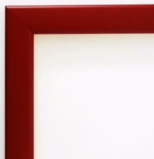 Bilderrahmen matt Rot Modern Rahmen Holz Art Hannover in 2, 4 - alle Größen