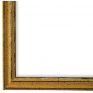 Bilderrahmen Gold Antik Holz Cosenza 2, 0 - DIN A2 - DIN A3 - DIN A4 - DIN A5