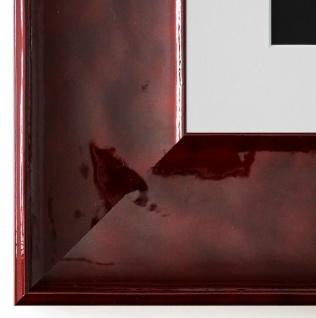 Bilderrahmen Taranto in Rot Lack mit Passepartout in Weiss 7, 5 - NEU alle Größen