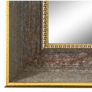 Wandspiegel Spiegel Grau Gold Vintage Retro Holz Monza 6, 7 - NEU alle Größen