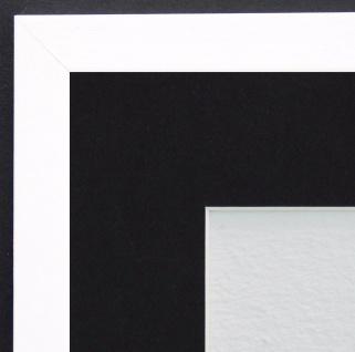 Bilderrahmen Oldenburg Weiss Struk. Modern Passepartout Schwarz 1, 7 - jede Größe