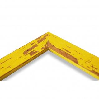 Bilderrahmen Gelb Antik Vintage Holz Cremona 3, 0 - NEU alle Größen - Vorschau 4