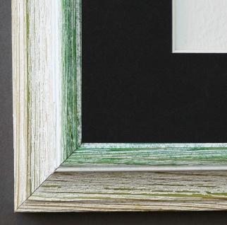 Bilderrahmen Bari Beige Grün mit Passepartout in Schwarz 4, 2 - NEU alle Größen