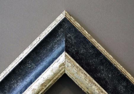 Bilderrahmen Schwarz Silber Antik Barock Fotorahmen Urkunde Rahmen Holz Acta 6, 8 - Vorschau 4