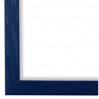 Bilderrahmen Blau Retro Holz Siena 2, 0 - DIN A2 - DIN A3 - DIN A4 - DIN A5