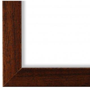 Bilderrahmen Braun gemasert Holz Alba 3, 0 - DIN A2 - DIN A3 - DIN A4 - DIN A5