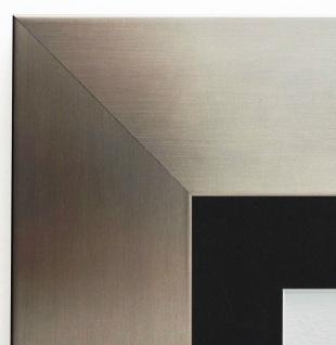 Bilderrahmen Novara dkl. Silber Modern Passepartout in Schwarz 7, 0 - alle Größen