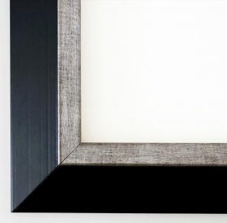 Bilderrahmen Schwarz Silber Modern Art Deco Rahmen Holz Lüneburg 4, 6 mit Glas