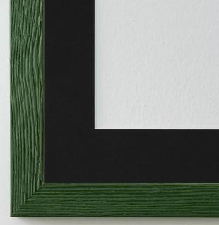 Bilderrahmen Siena in Grün mit Passepartout in Schwarz 2, 0 Top Qualität