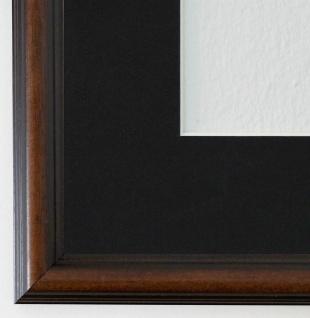 Bilderrahmen Berlin in Braun mit Passepartout in Schwarz 2, 3 Top Qualität