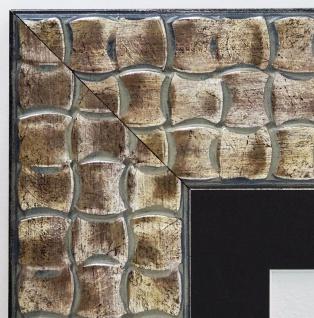 Bilderrahmen Bremen Silber Kupfer Modern Passepartout Schwarz 8, 0 - alle Größen