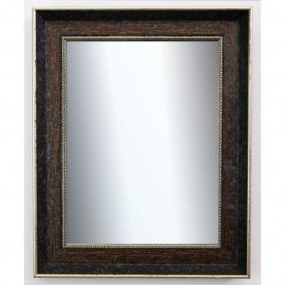 Wandspiegel dunkel Braun Silber Monza Antik Barock 6, 7 - NEU alle Größen
