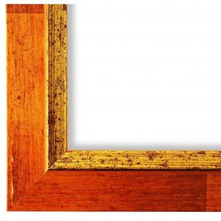 Bilderrahmen Orange Gold Retro Vintage Holz Catanzaro 3, 9 - NEU alle Größen