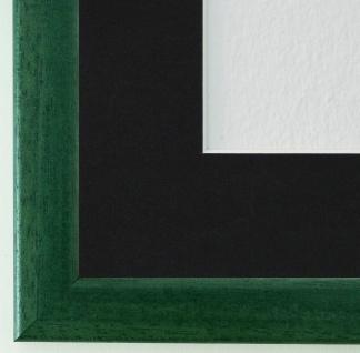 Bilderrahmen Hannover in Grün mit Passepartout in Schwarz 2, 4 Top Qualität