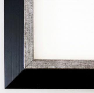 Bilderrahmen Schwarz Silber Modern Art Rahmen Lüneburg 4, 6 - alle Größen NEU