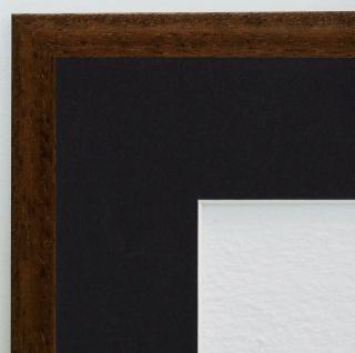 Bilderrahmen Oldenburg Braun Struk. Modern Passepartout Schwarz 1, 7 - jede Größe