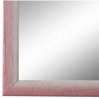 Wandspiegel Spiegel Rosa Weiss Retro Vintage Holz Pinerolo 2, 3 - NEU alle Größen
