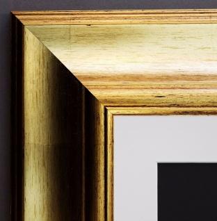 Bilderrahmen Acta in Gold Antik mit Passepartout in Weiss 6, 7 - alle Größen