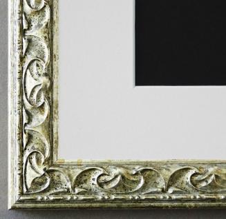 Bilderrahmen Mantova in Silber mit Passepartout in Weiss 3, 1 Top Qualität