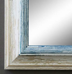 Spiegel Wandspiegel Bad Flur Garderobe Shabby Landhaus Bari Beige Blau 4, 2