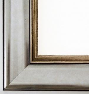 Bilderrahmen Silber Antik-Stil Rahmen Klassisch Flensburg 5, 5 - alle Größen NEU