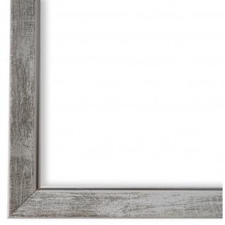 Bilderrahmen Weiss Silber Vintage Shabby Holz Frosinone 1, 8 - NEU alle Größen