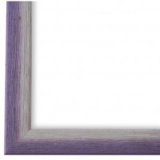 Bilderrahmen Lila Weiss Retro Holz Pinerolo - DIN A2 - DIN A3 - DIN A4 - DIN A5