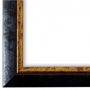 Bilderrahmen Blau Gold Retro Vintage Holz Perugia 3, 0 - 40x60 50x50 50x60 60x60