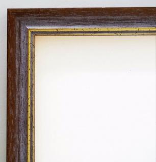Bilderrahmen Braun Gold Antik Rahmen Holz Klassisch Braunschweig 2, 5 alle Größen