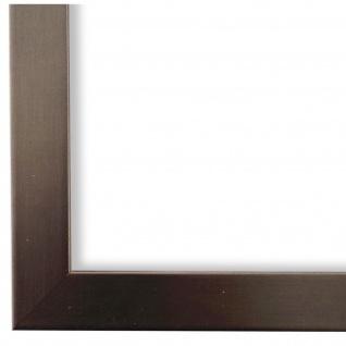 Bilderrahmen dkl. Silber Modern Vintage Holz Amalfi 2, 5 - NEU alle Größen