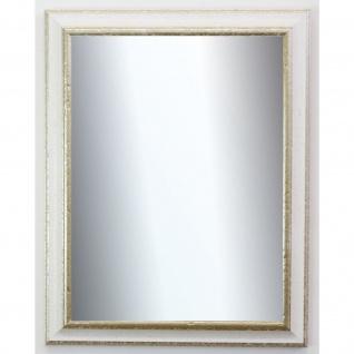 Spiegel Wandspiegel Badspiegel Flur Antik Barock Garderobe Genua Weiß Silber 4, 3