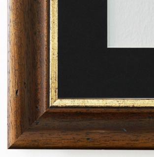 Bilderrahmen Foggia in Braun mit Passepartout in Schwarz 4, 4 Top Qualität