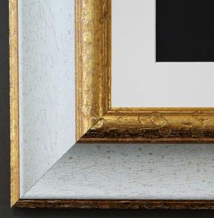 Bilderrahmen Acta in Weiss Gold mit Passepartout in Weiss 6, 7 - NEU alle Größen