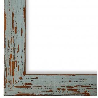 Bilderrahmen Türkis Antik Holz Cremona 3, 0 - DIN A2 - DIN A3 - DIN A4 - DIN A5