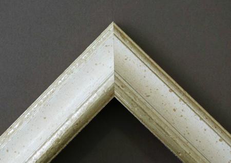 Garderobenspiegel Weiss Silber Genua Antik Barock 4, 3 - NEU alle Größen - Vorschau 3