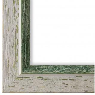 Bilderrahmen Beige Grün Retro Vintage Holz Catanzaro 3, 9 - NEU alle Größen