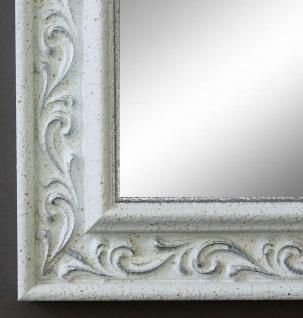 Spiegel Wandspiegel Badspiegel Flur Antik Barock Vintage Verona Weiss Silber 4, 4