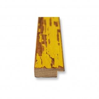 Bilderrahmen Gelb Antik Vintage Holz Cremona 3, 0 - NEU alle Größen - Vorschau 5