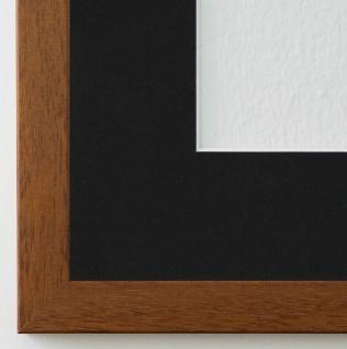 Bilderrahmen Neapel in hell Braun mit Passepartout in Schwarz 2, 0 Top Qualität