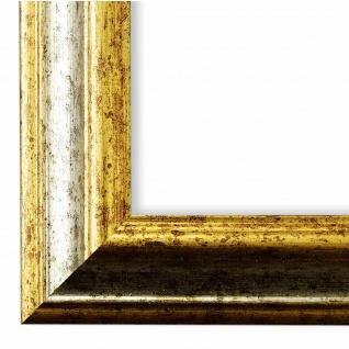Bilderrahmen Silber Gold Holz Bari 4, 4 - DIN A2 - DIN A3 - DIN A4 - DIN A5