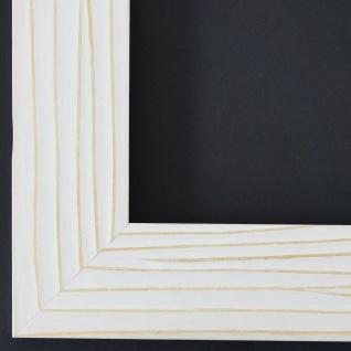 Bilderrahmen Rahmen Holz Modern Shabby Köln Weiss Struktur 4, 5 - Top Qualität